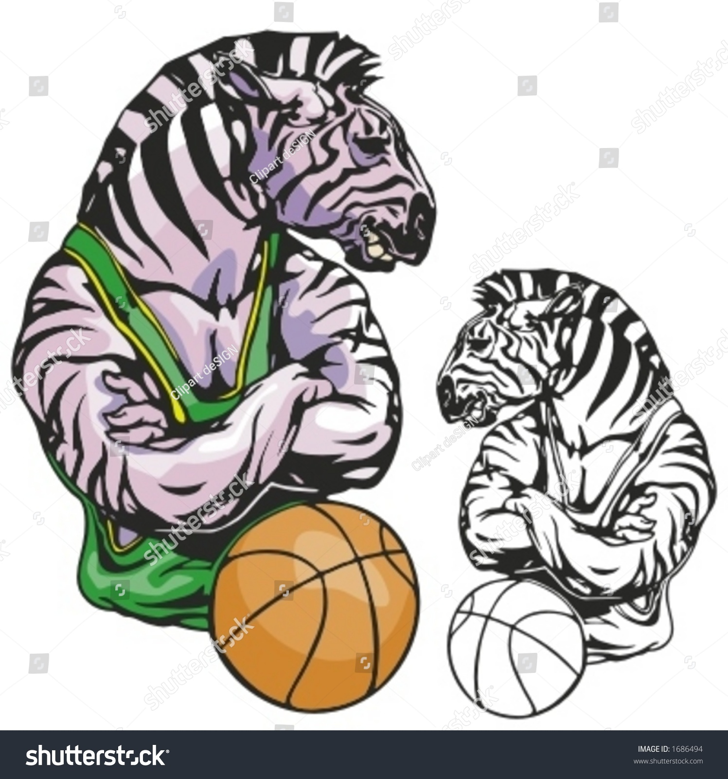 Zebra shirt design - Zebra Basketball Mascot Great For T Shirt Designs School Mascot Logo And Any