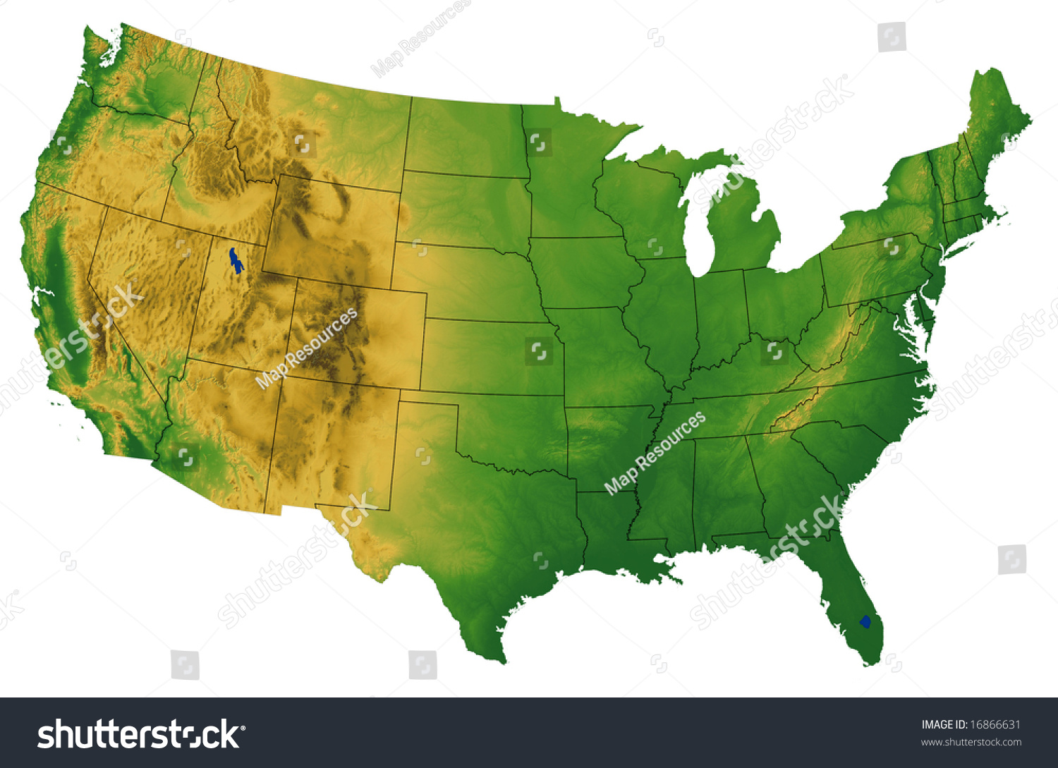 Maps Of The USA The United States Of America Map Library Where - Contiguous us hillshade map