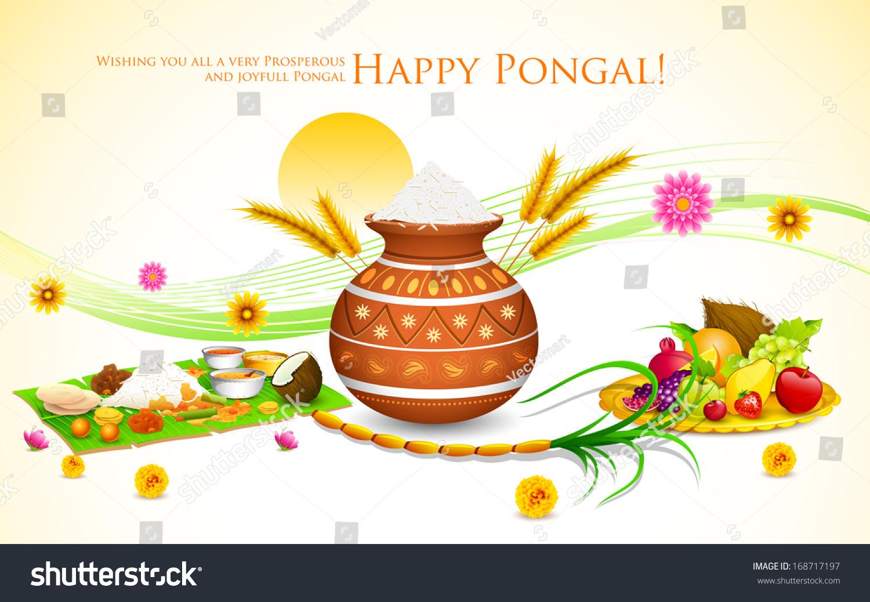 Illustration happy pongal greeting background stock vector 168717197 illustration of happy pongal greeting background m4hsunfo