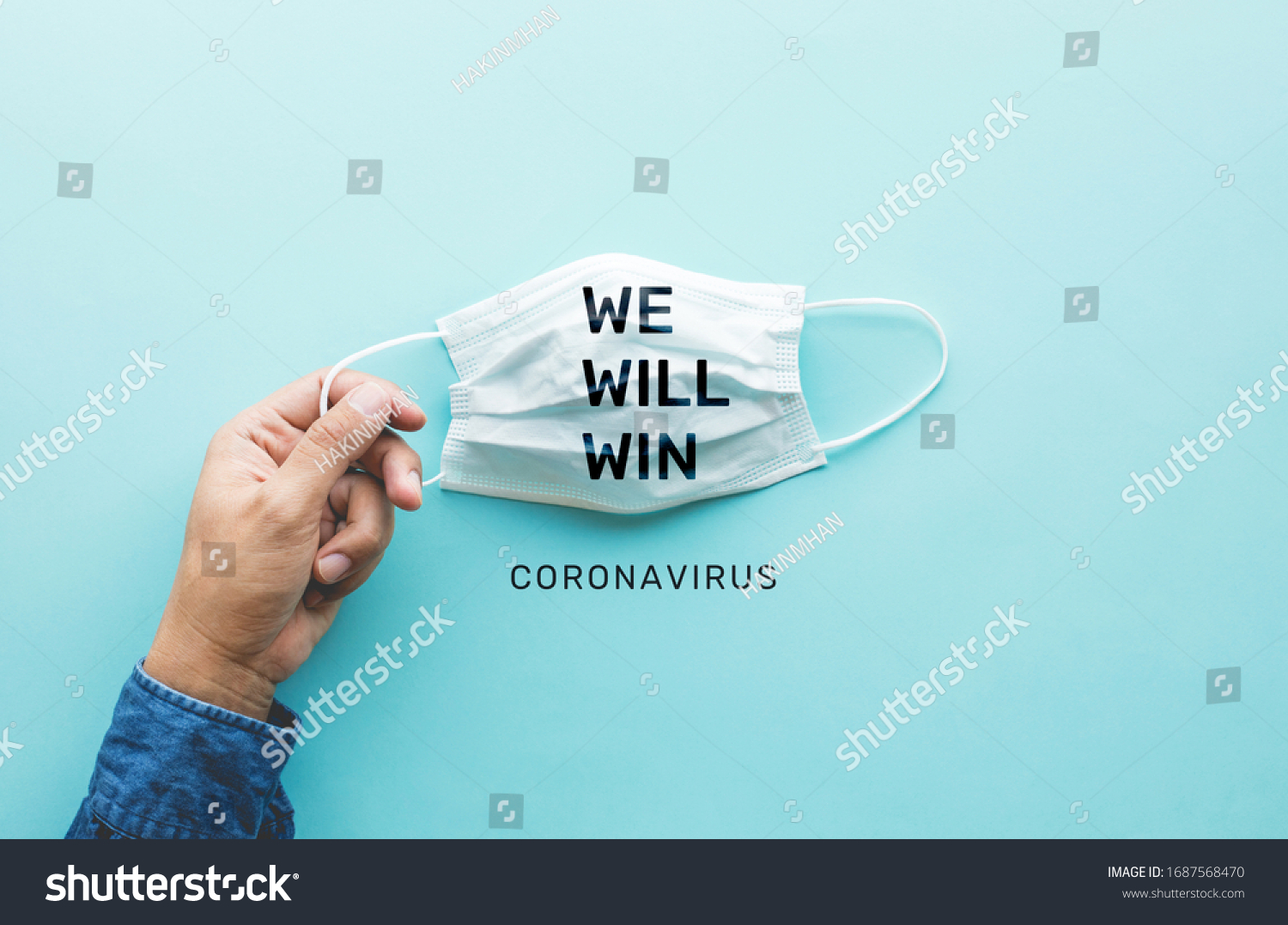 WE WILL WIN on coronavirus,covid-19 outbreak around the world .body health care.medical equipment.demand and supply.hope and solution.big change situation,Protect yourself with mask  #1687568470