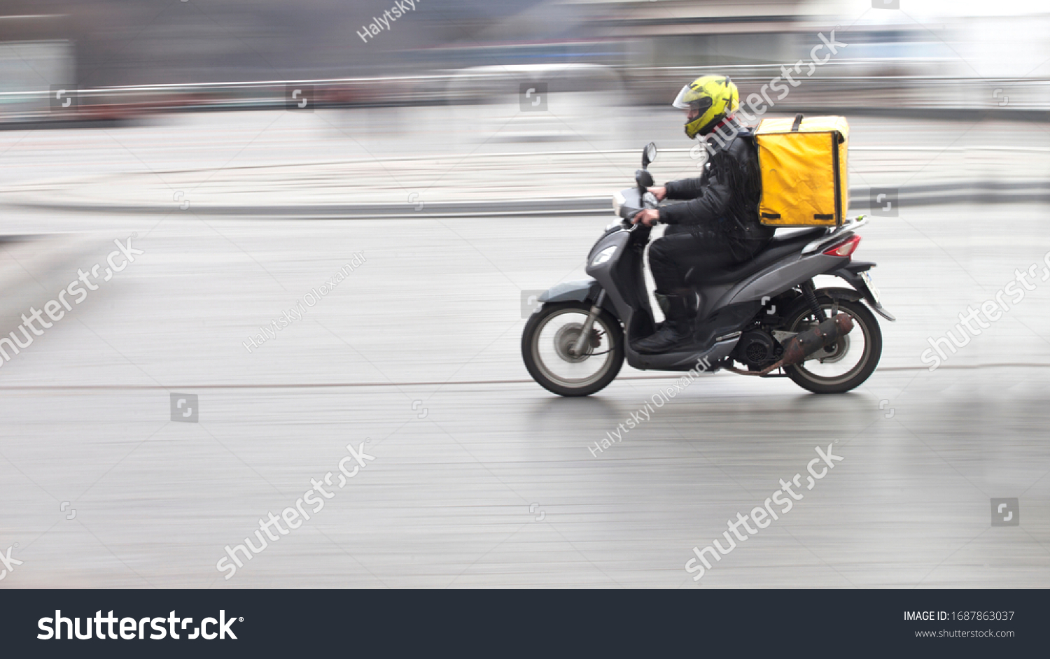 Couriers carry out orders for the delivery of goods #1687863037