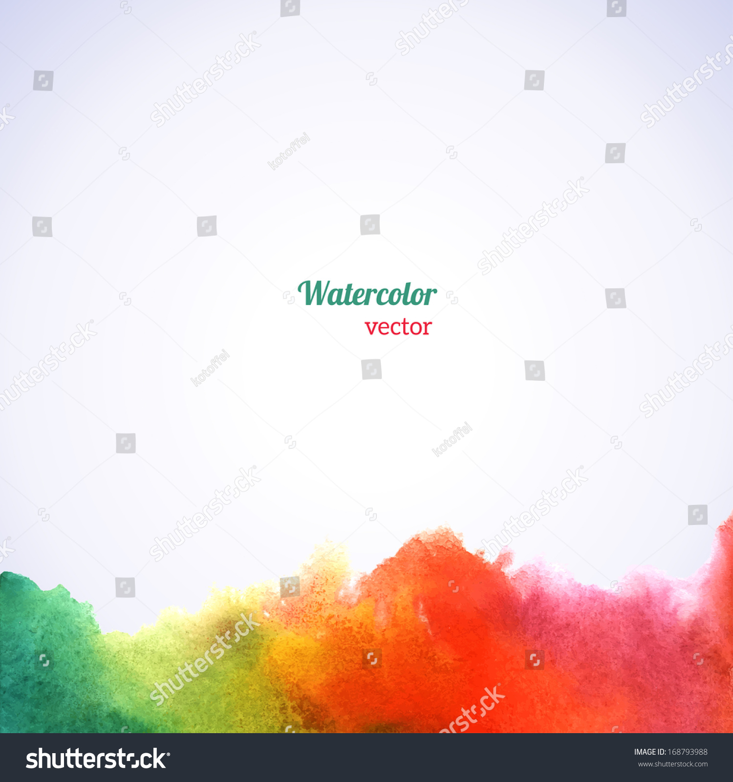 Watercolor Rainbow Border Vector Illustration Grunge Vector – Border Paper Template