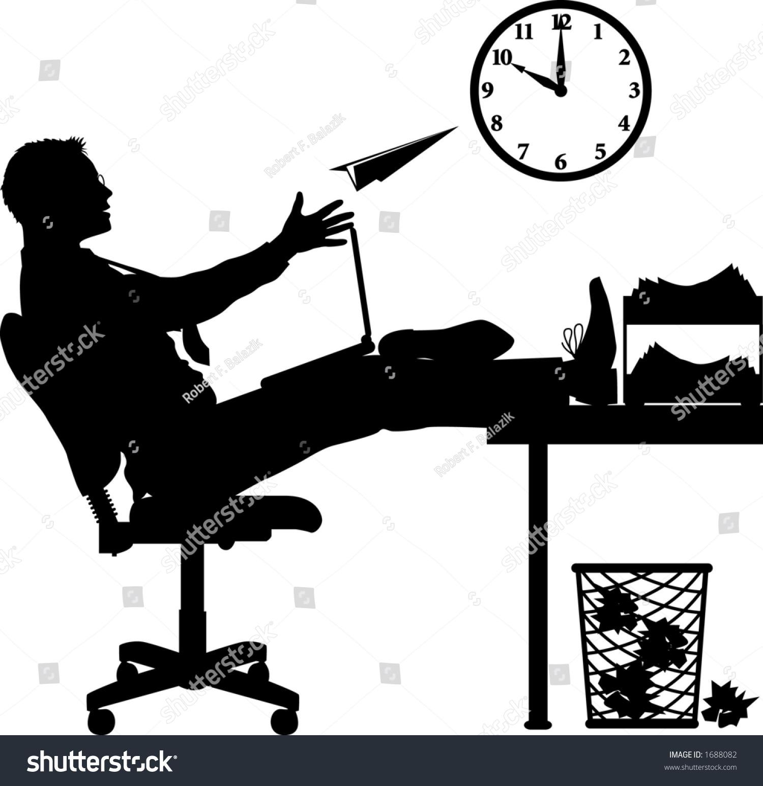 Gr fico del vector que representa a un oficinista for Que es un oficinista
