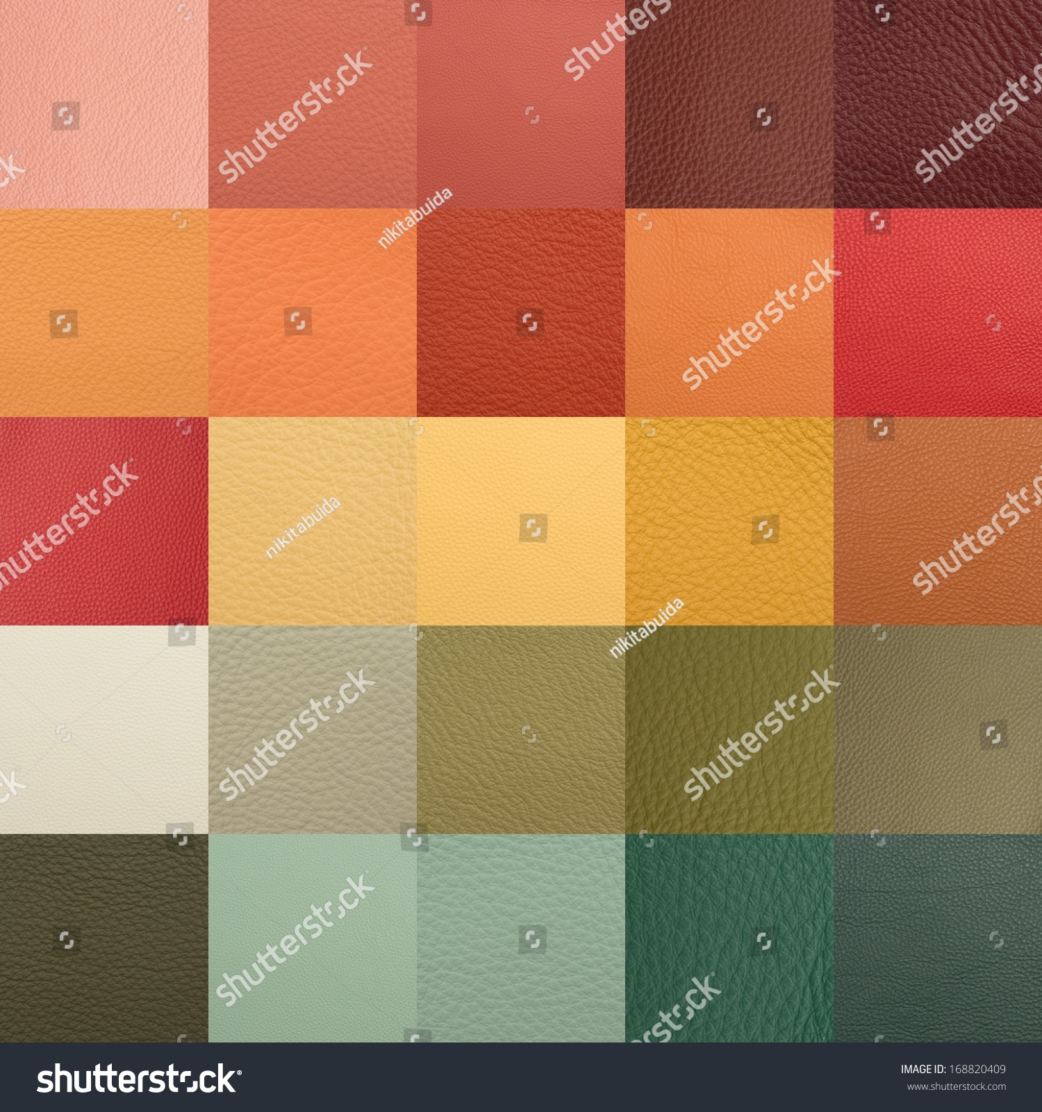 Leather Chart Many Color Texture Samples Stock Photo (Royalty Free ...