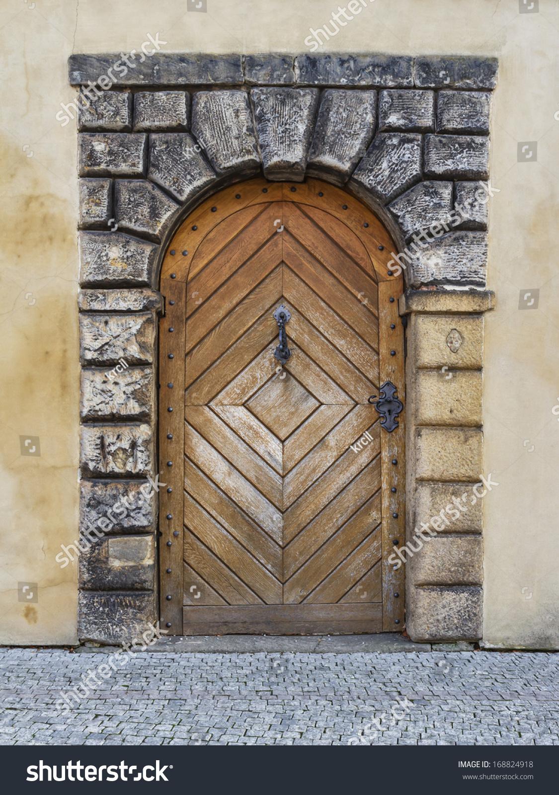Old wooden door prague castle stock photo 168824918 for Door z prague