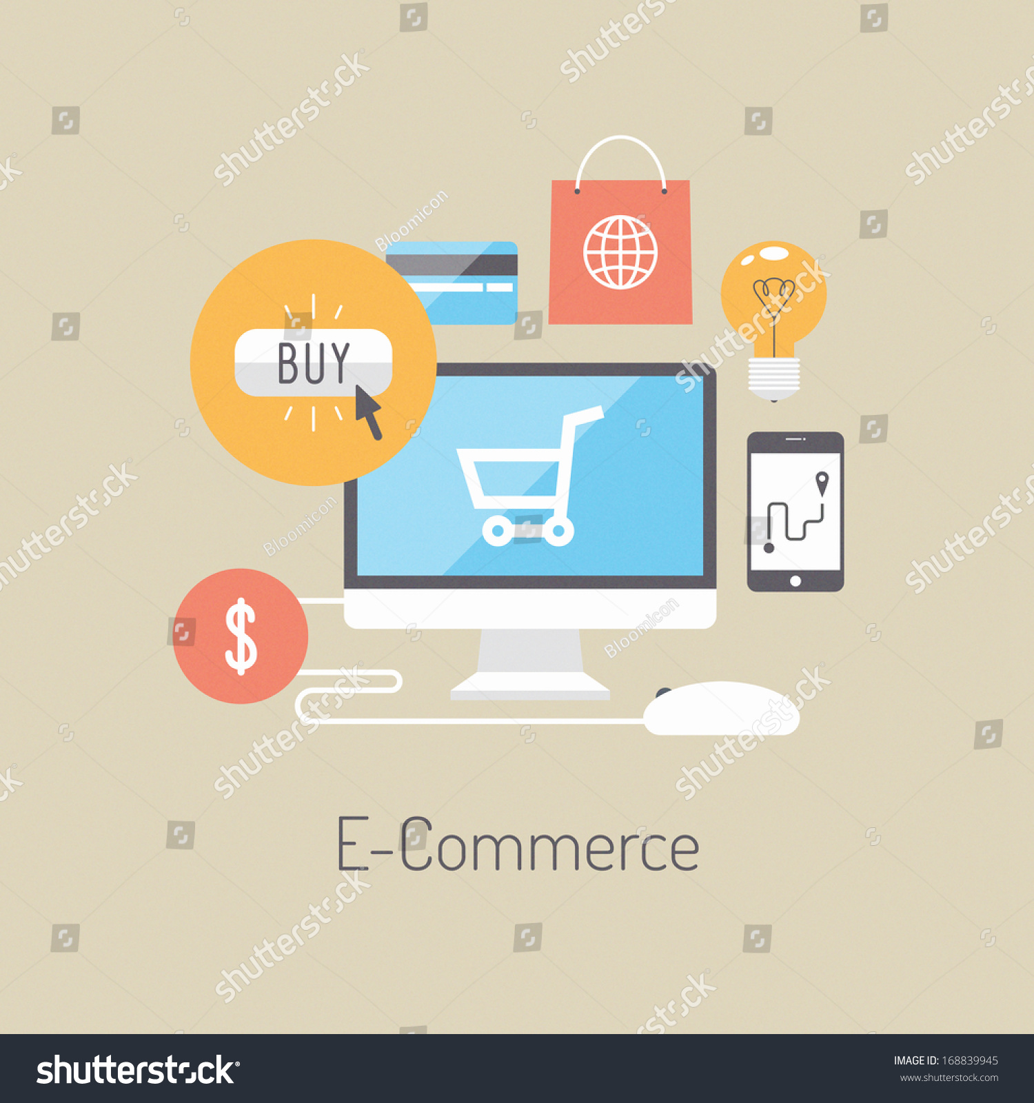 Flat design vector illustration poster concept stock for Outlet design online