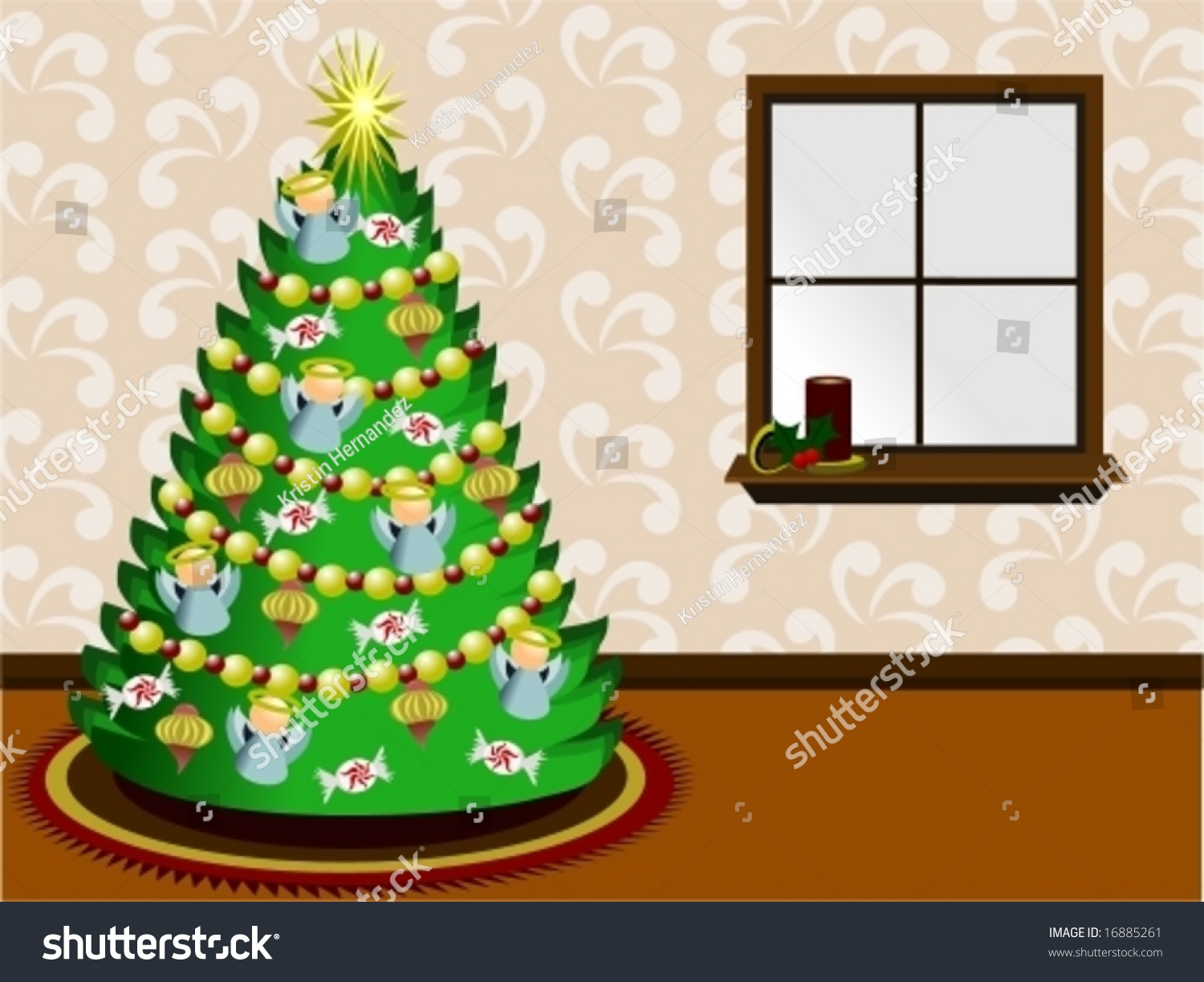 Victorian style christmas tree ornaments - Victorian Style Christmas Tree In A Living Room