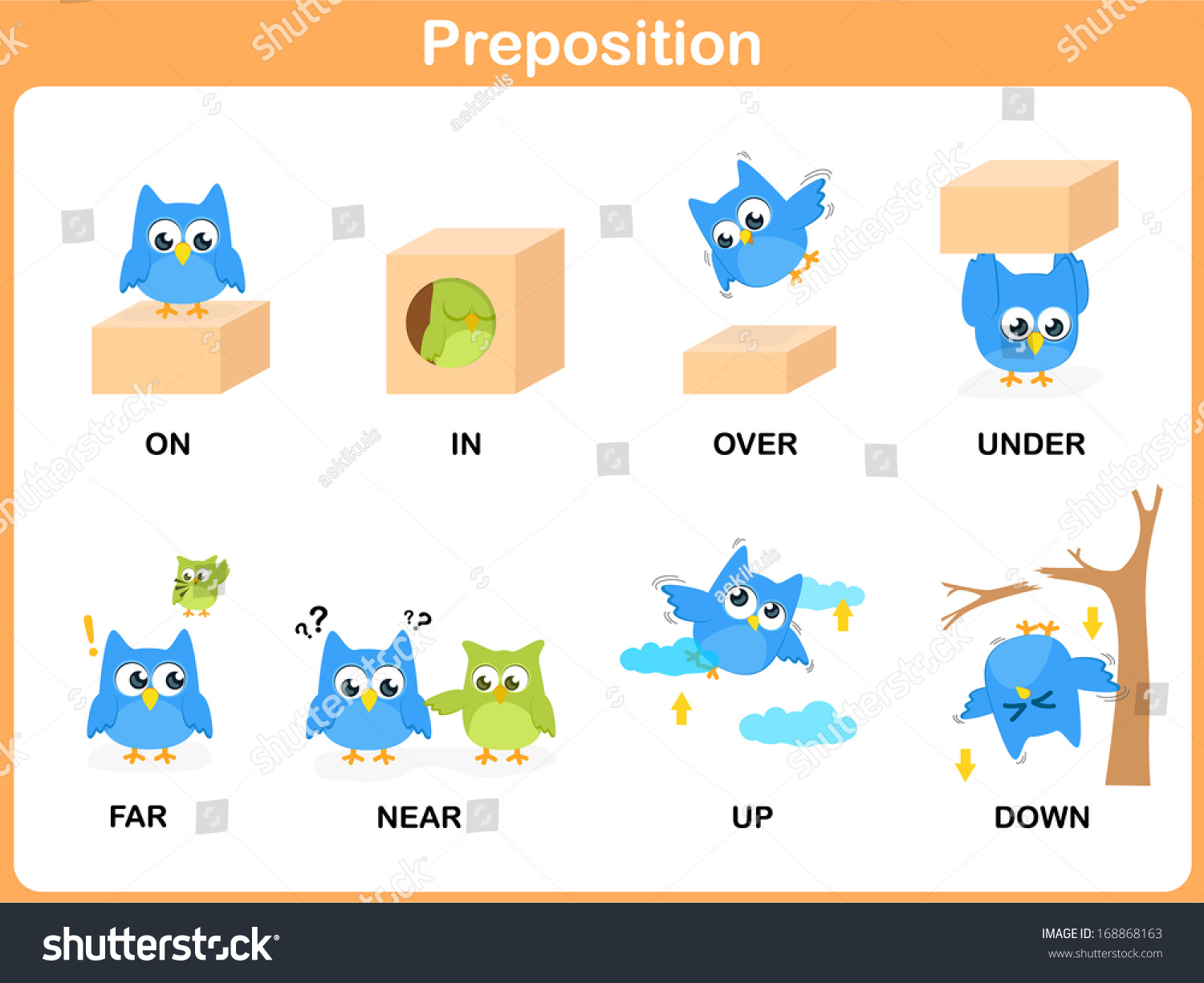 Printables Pic On Preposition preposition motion preschool stock vector 168868163 shutterstock of for preschool
