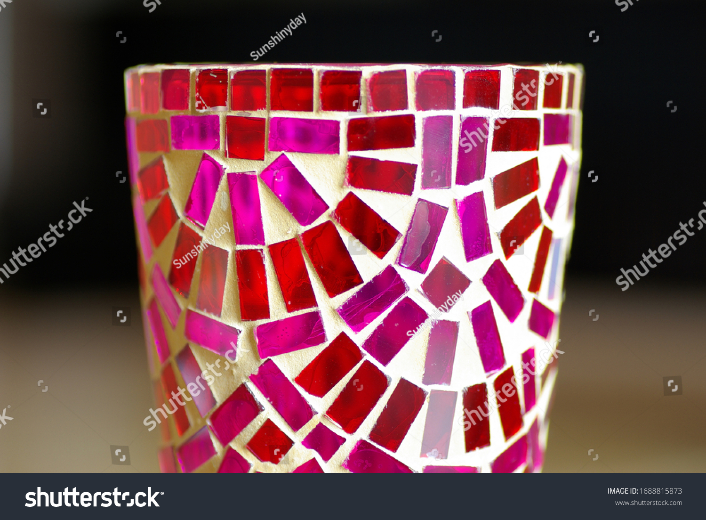 stock-photo-pink-glass-mosaic-on-ceramic