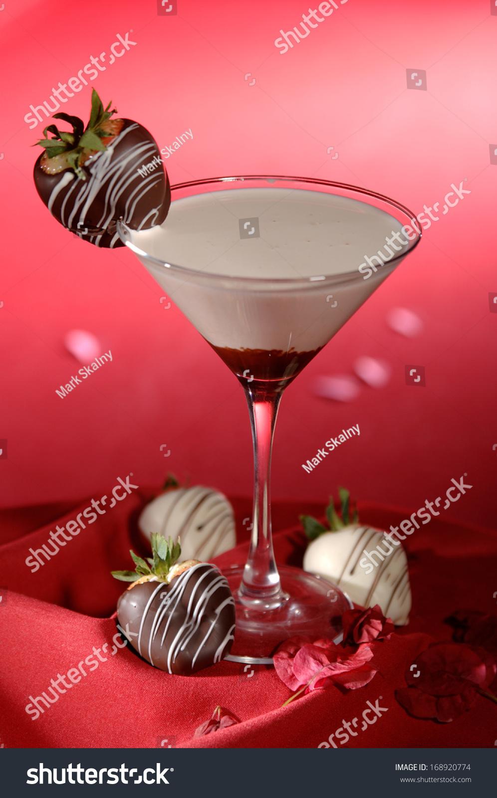 White Chocolate Martini Cocktail Chocolate Covered Stock Photo ...