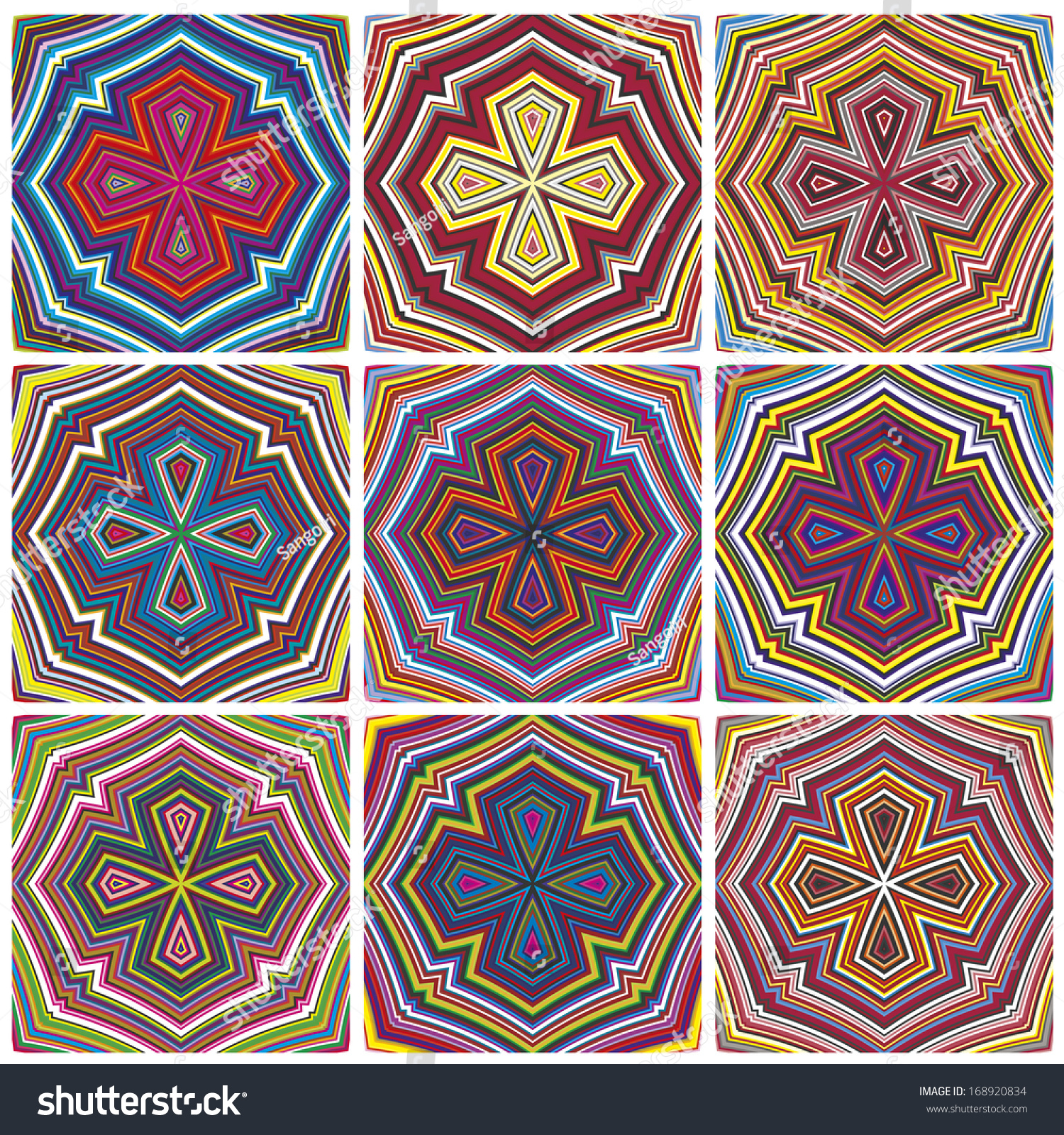 Design Art From Kenyadern Seamless Vector Pattern In Vivid Colors
