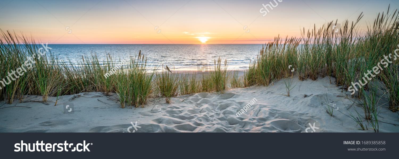 Sunset at the dune beach #1689385858