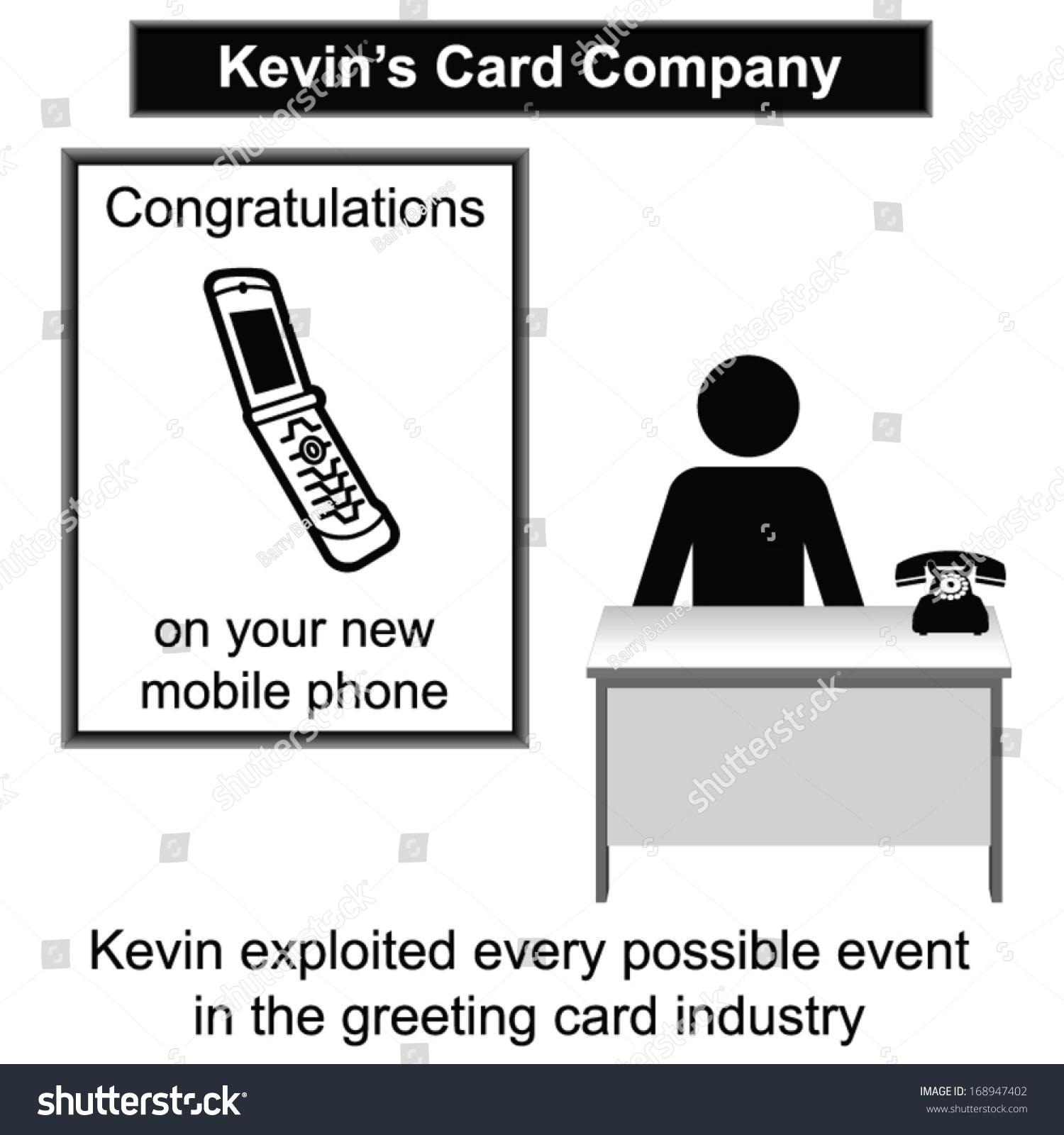 Kevin His Greeting Card Shop Cartoon Stock Vector 2018 168947402
