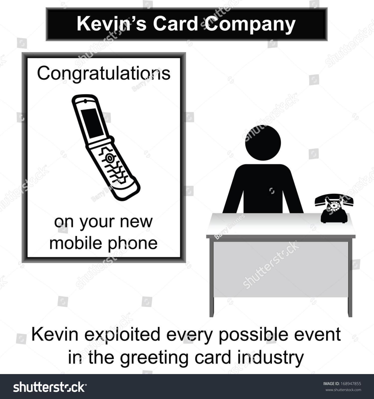 Kevin His Greeting Card Shop Cartoon Stock Illustration 168947855