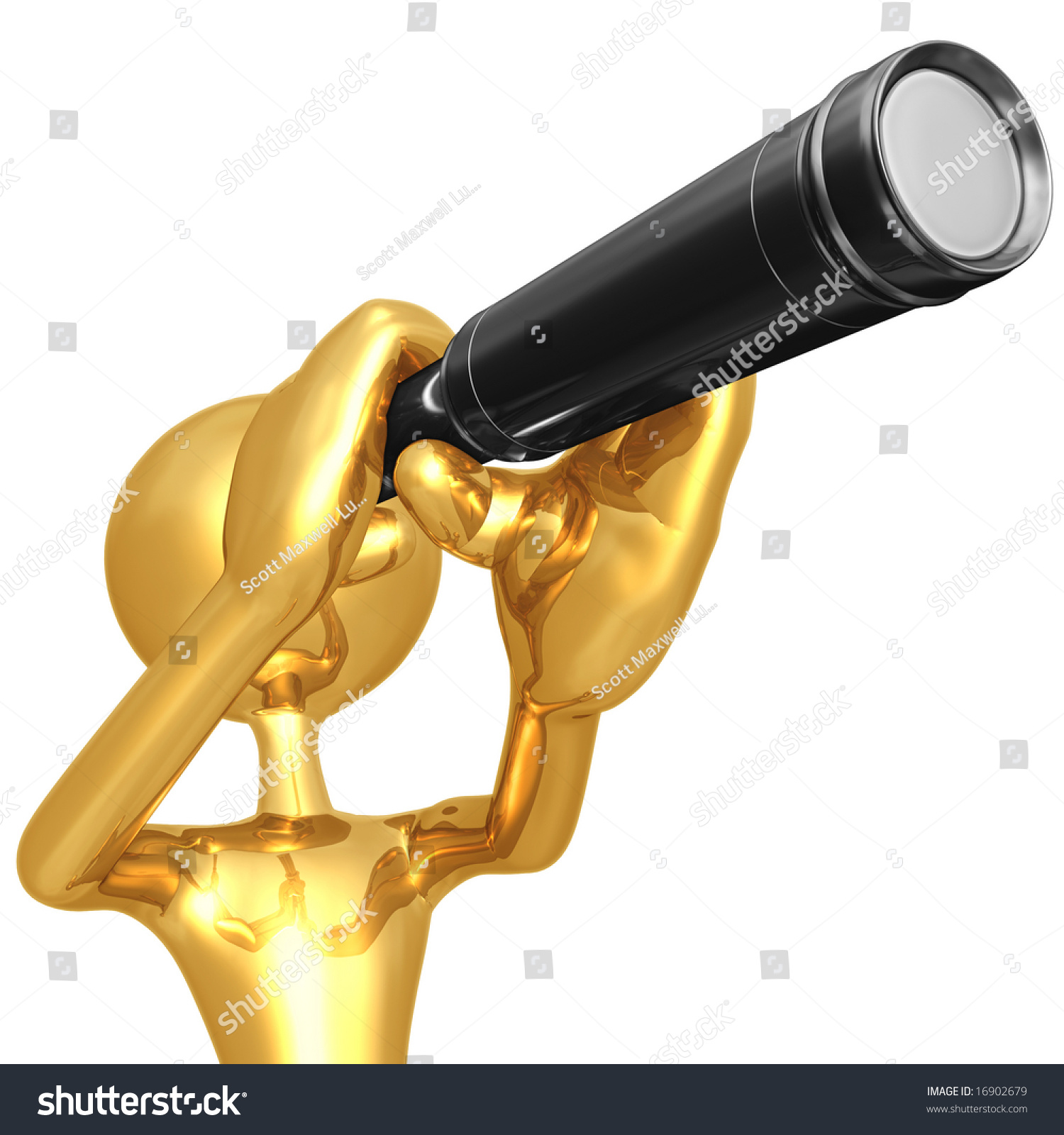 Looking Through Telescope Stock Photo 16902679 : Shutterstock