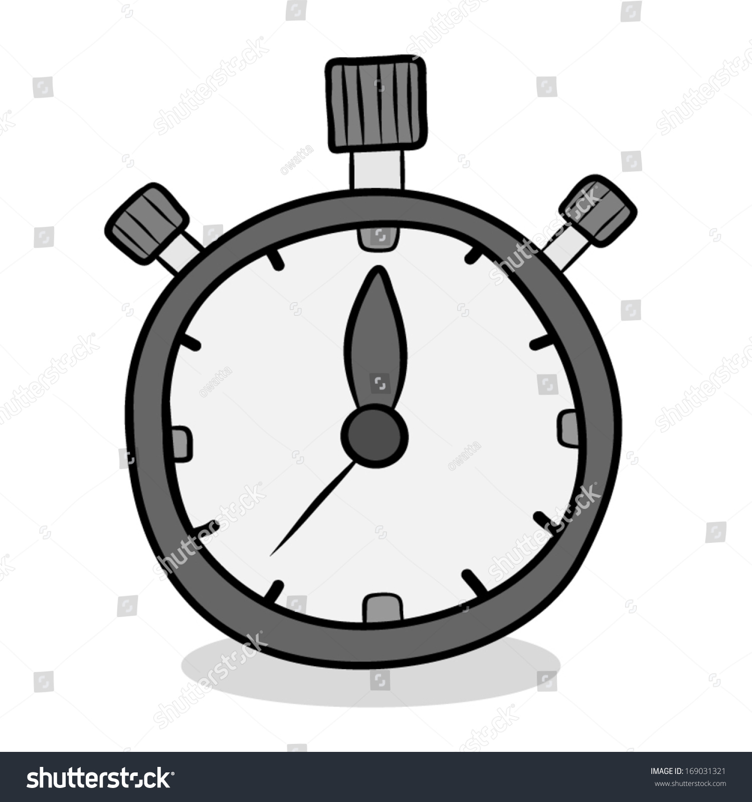 Stop watch cartoon vector illustration isolated stock vector 169031321 shutterstock for Cartoon watches