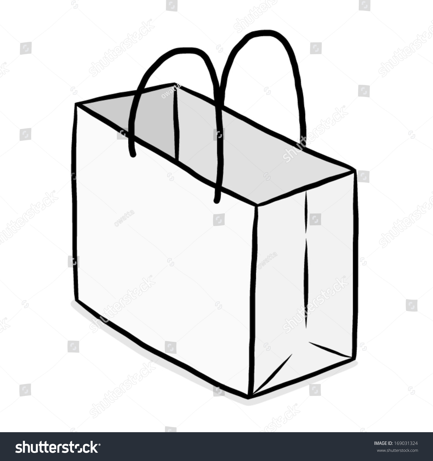 White Paper Bag Cartoon Vector Illustration Stock Vector ...White Paper Bag Vector