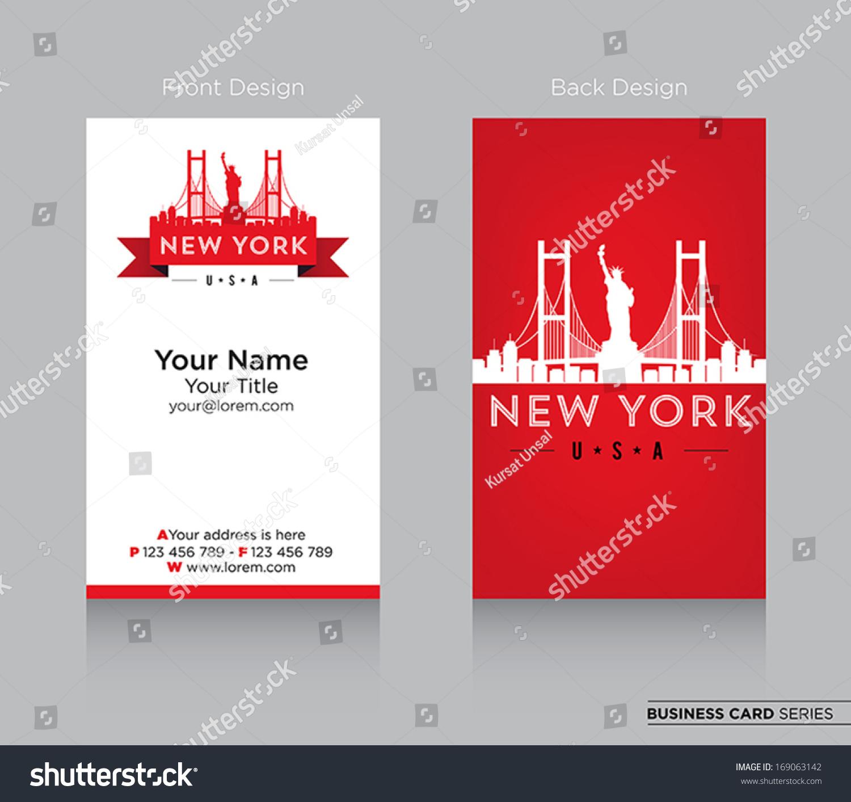 modern business card design new york stock vector