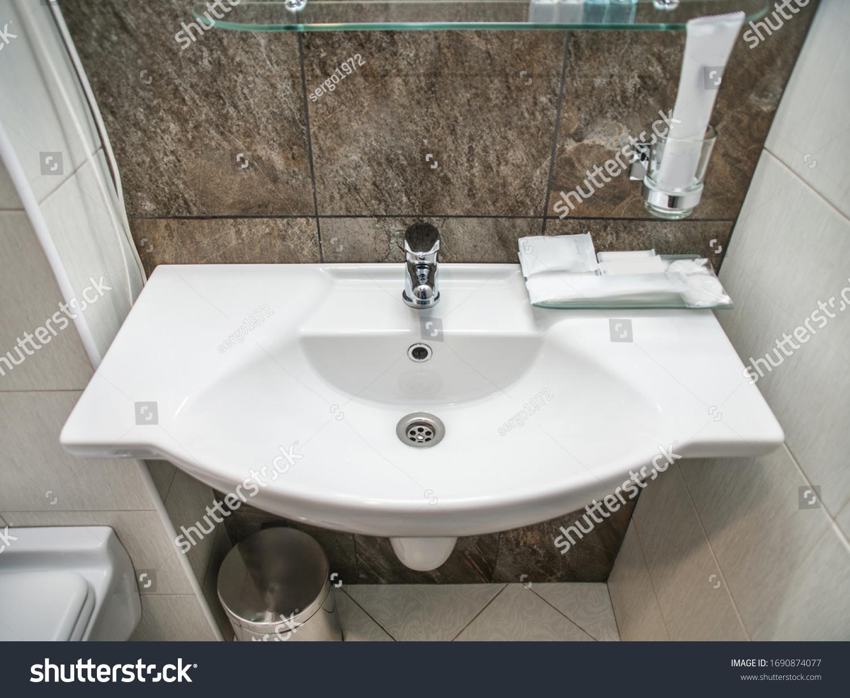 Interior Fashionable Expensive Bathroom Toilet Made Stock Photo Edit Now 1690874077