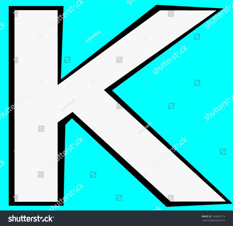 Kappa Greek Letter Greek Alphabet Script Stock Illustration