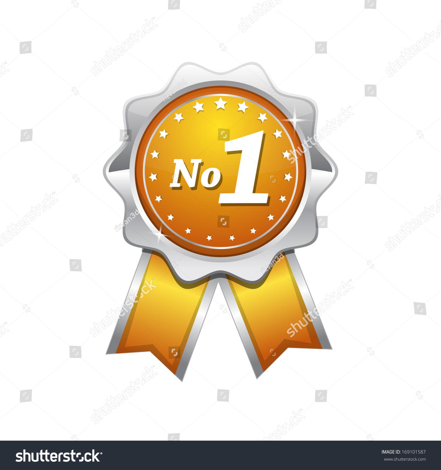 no 1 yellow seal vector icon stock vector royalty free 169101587