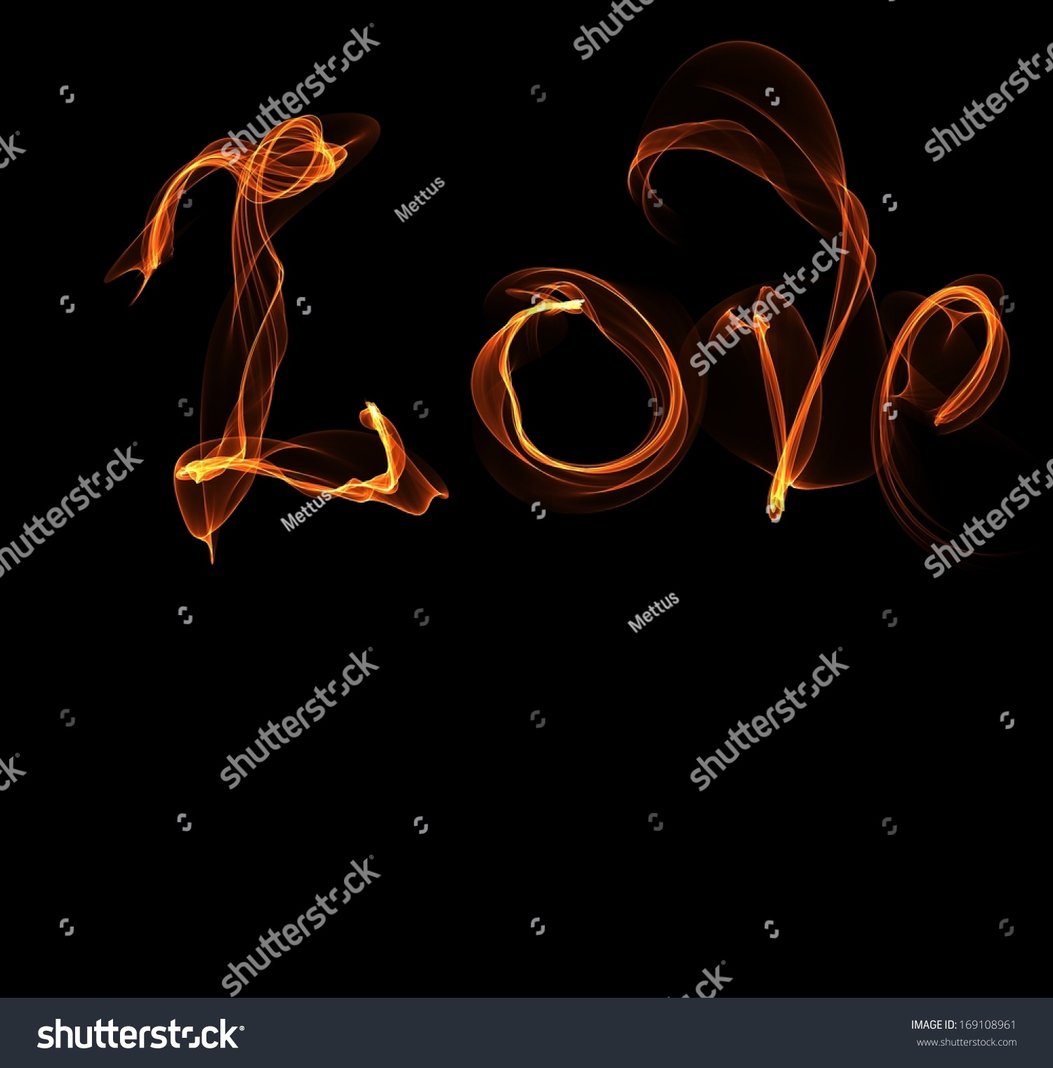 Word Love Fire Il Ration And Place For Text