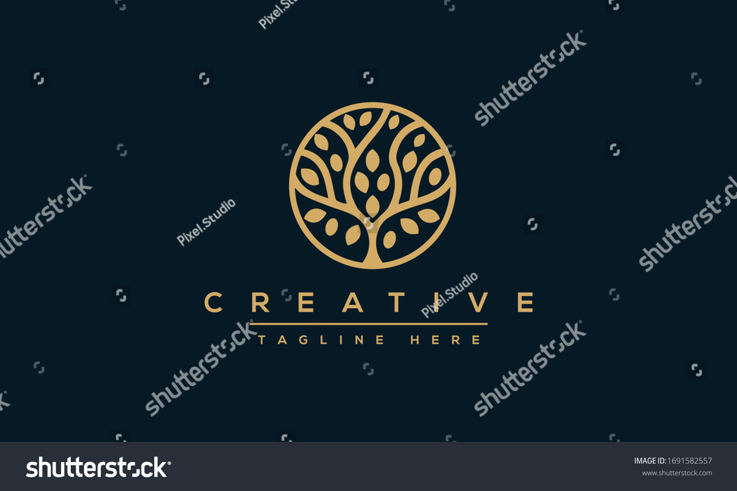 Tree vector icon. Nature trees vector illustration logo design. #1691582557