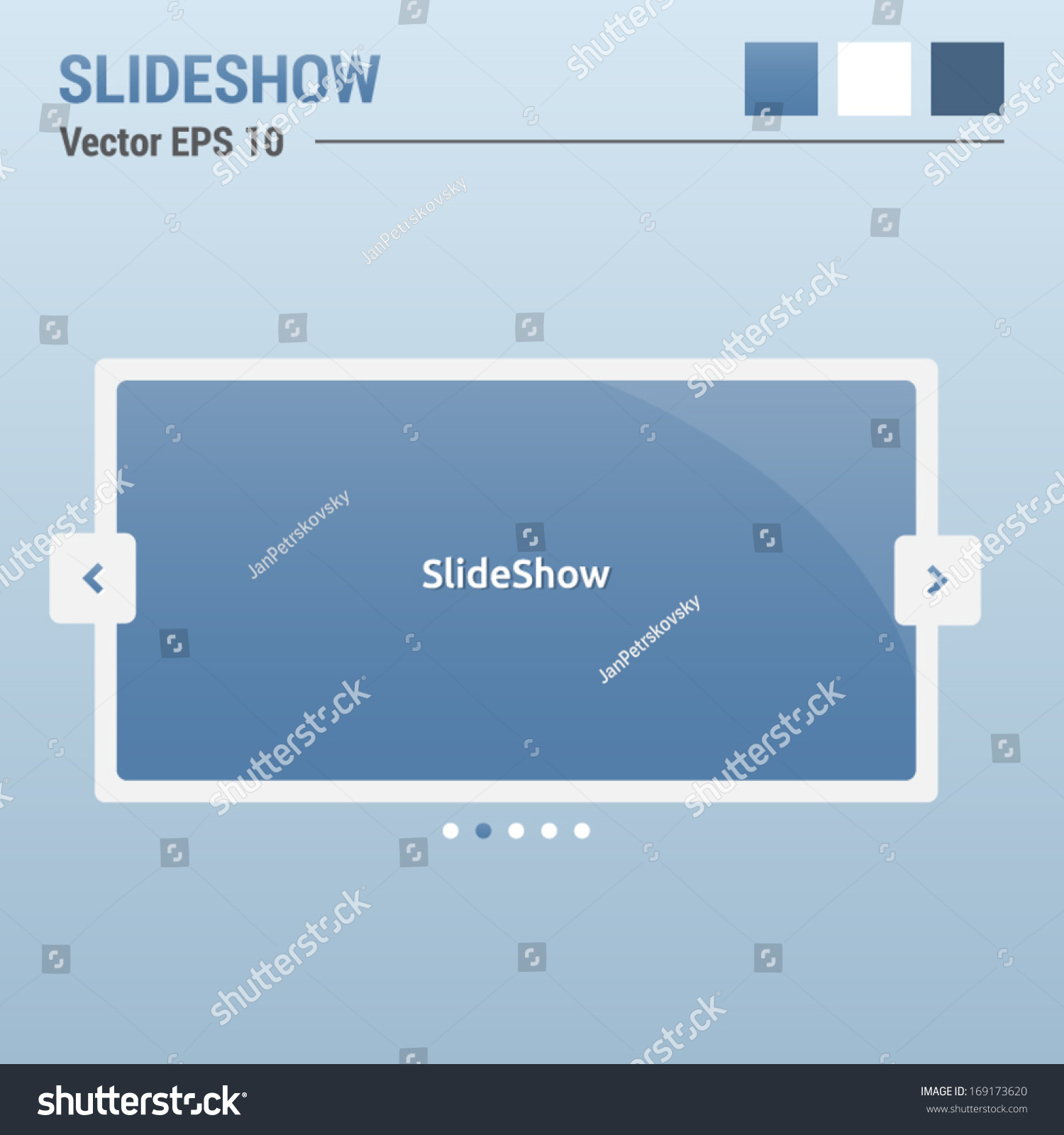 Slideshow Website Elements Web Design Ui Stock Vector 169173620 ...