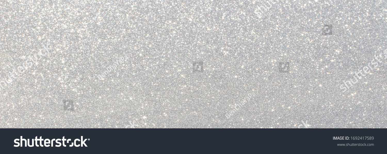White and grey glitter bokeh circle glow blurred and blur abstract. Glittering shimmer bright luxury. White and silver glisten twinkle for texture wallpaper and background backdrop.  #1692417589