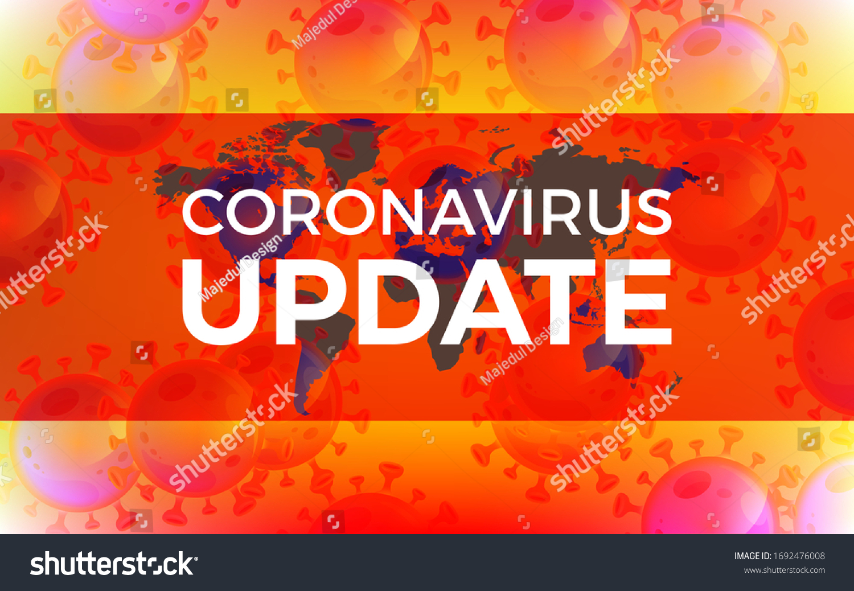 Coronavirus Update Banner Template Design World Stock Vector Royalty Free 1692476008