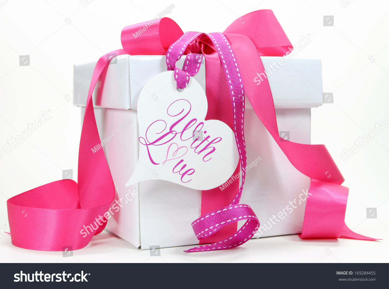 Beautiful Gifts For Mom Birthday: Beautiful Pink And White Gift Box Present For Christmas