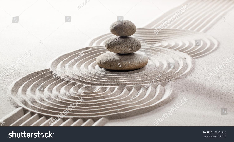 symbol relaxing serenity zen sand design stock photo edit now