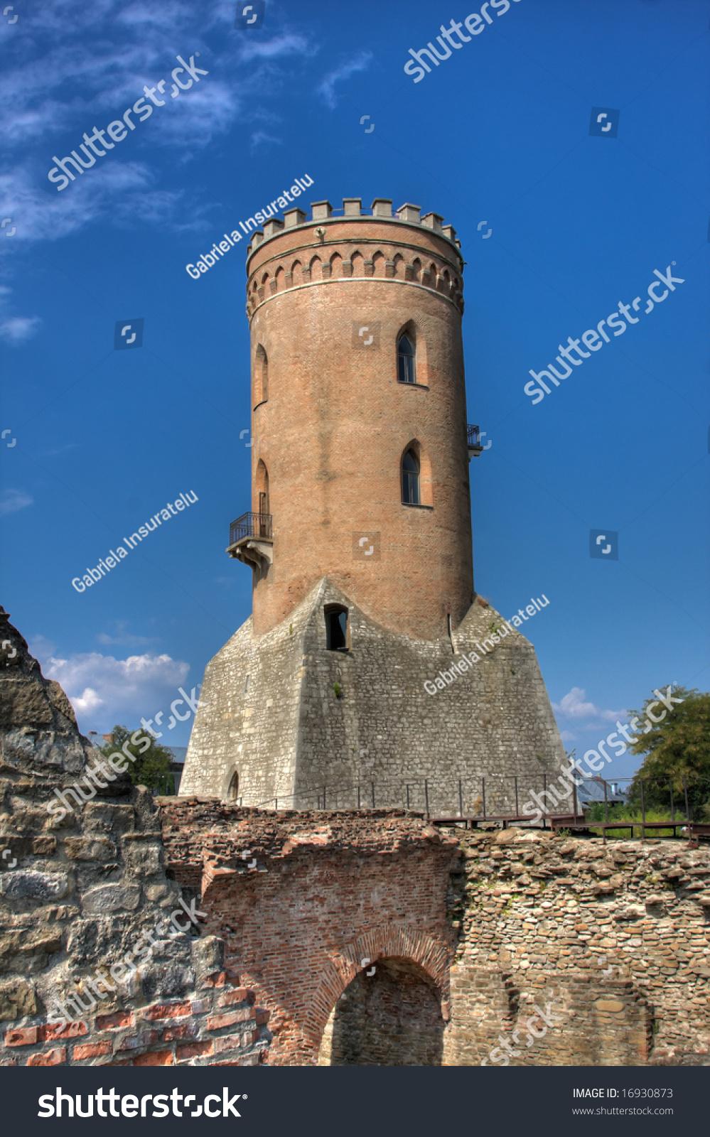 Targoviste Ruins With Chindia Tower Stock Photo - Image of ...  |Chindia