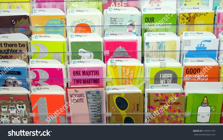 Toronto December 14 Greeting Cards Store Stock Photo Edit Now