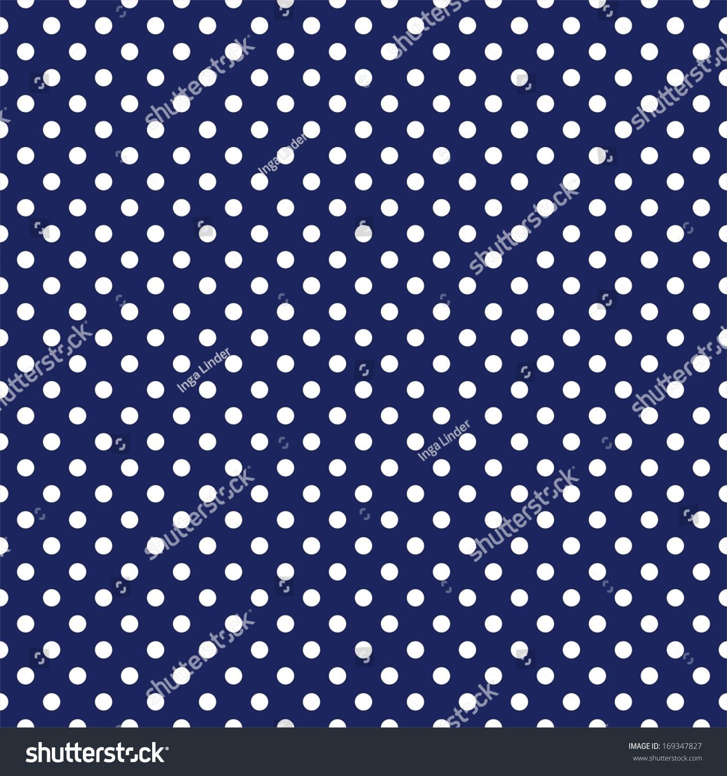Seamless Pattern White Polka Dots On Stock Illustration ...