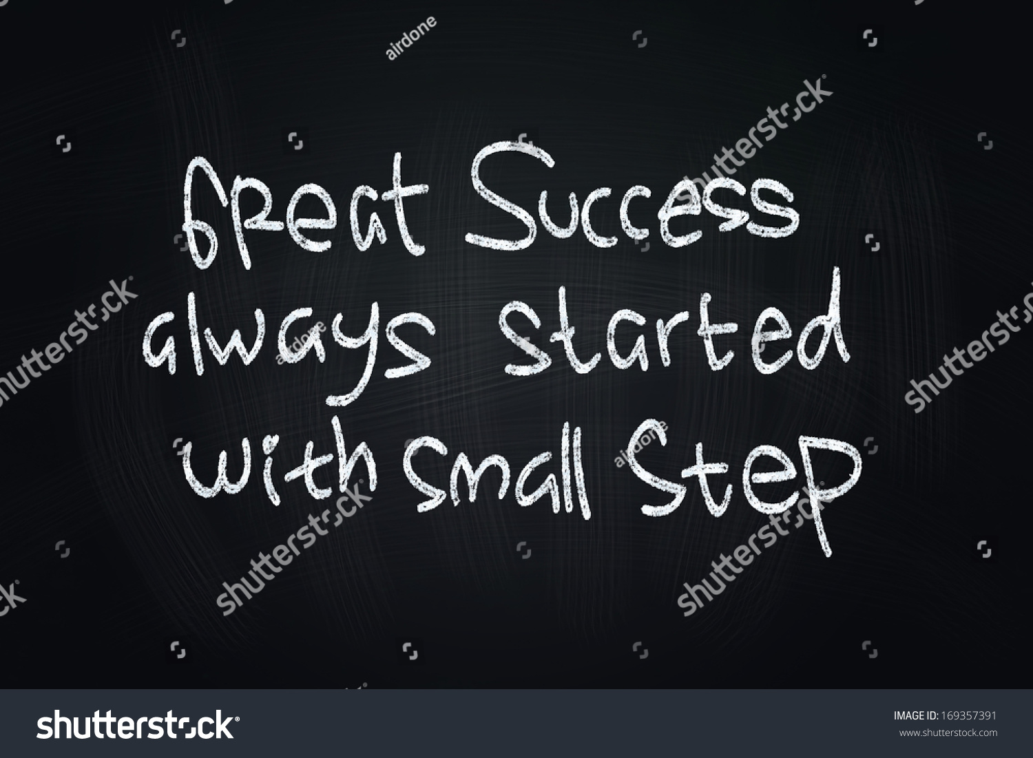Great Quotes About Success Great Success Quotes Written Chalk On Stock Illustration 169357391