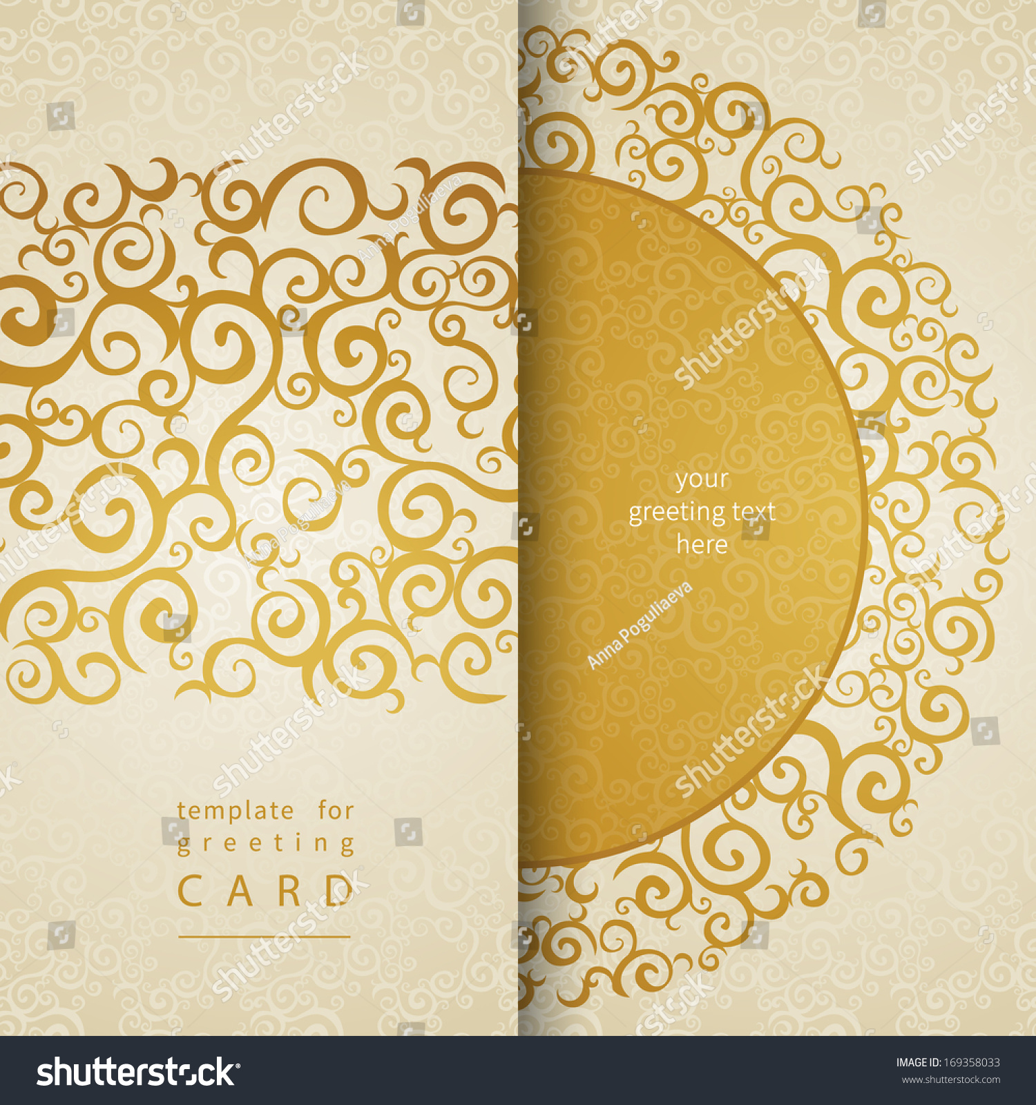 vintage invitation cards lace gold or nt stock vector  vintage invitation cards lace gold or nt golden curls template frame design for greeting