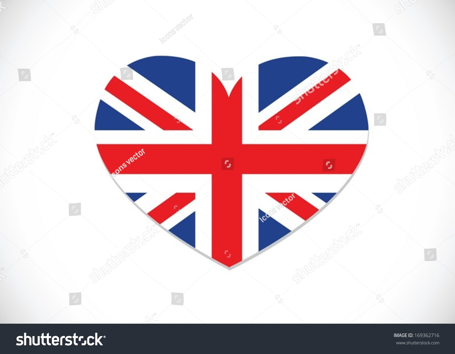 national flag uk united kingdom great stock vector 169362716