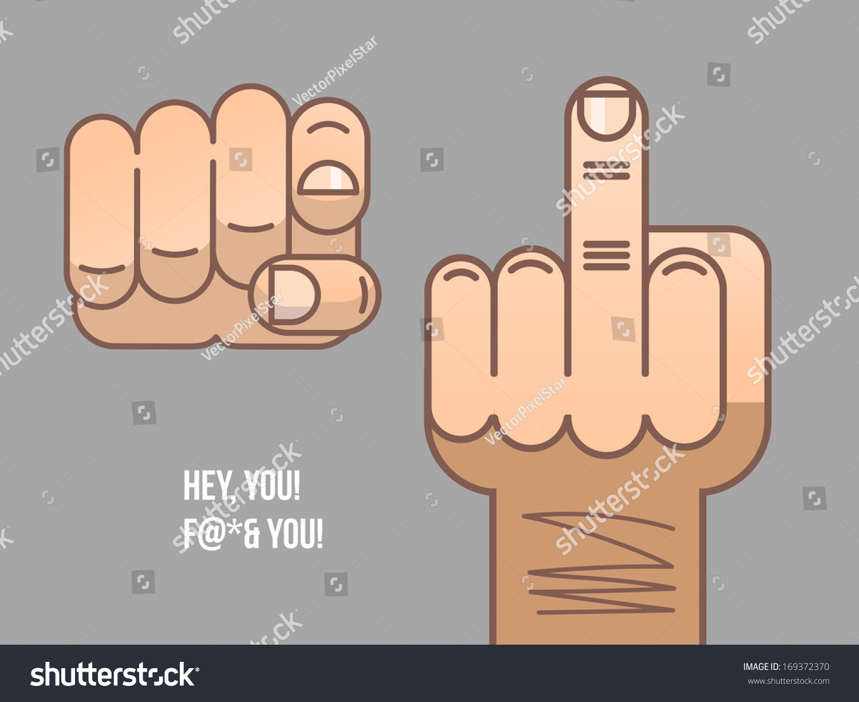 Finger Symbol Vector Illustration Stock Vector Royalty Free
