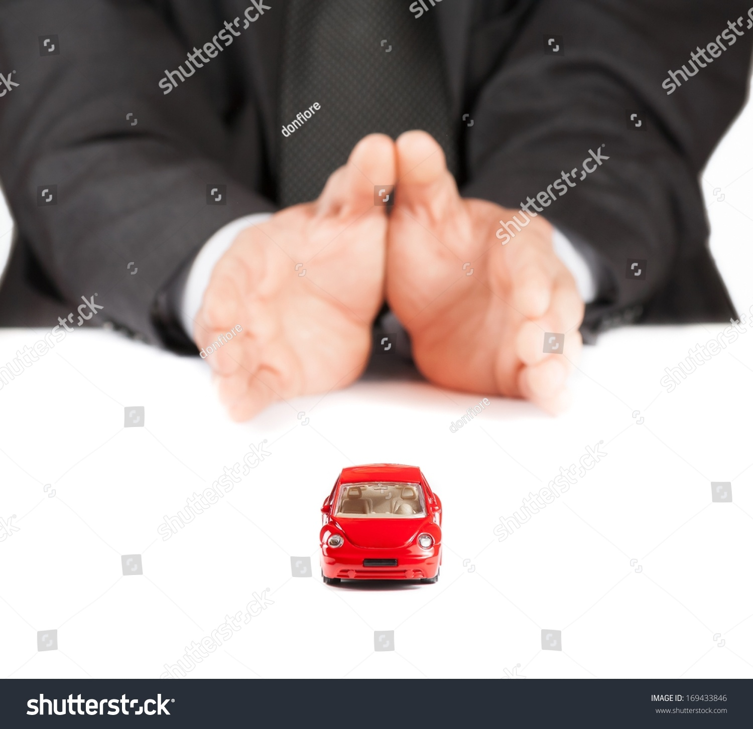 Red Toy Car Front Businessman On Stock Photo 169433846  Shutterstock