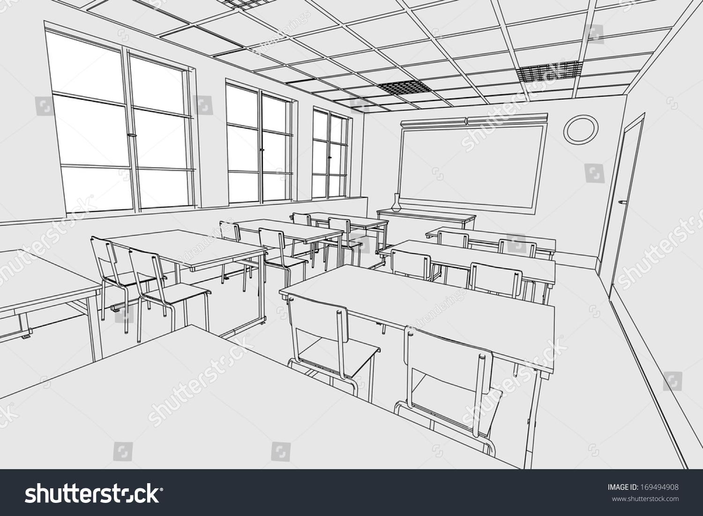 Uncategorized Drawing Of A Classroom cartoon image classroom interior stock illustration 169494908 of interior