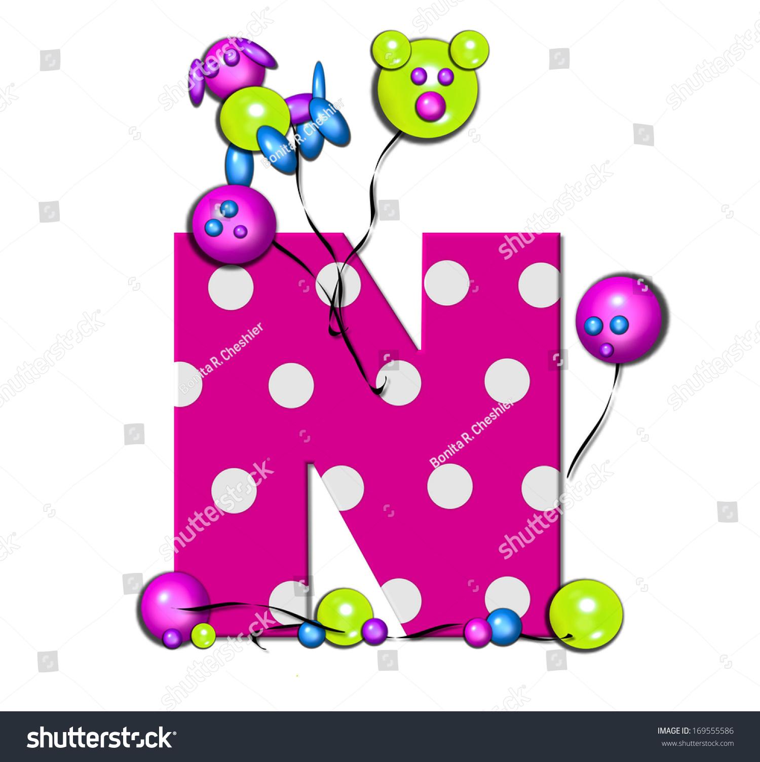 Royalty Free Stock Illustration of Letter N Alphabet Set Party ...