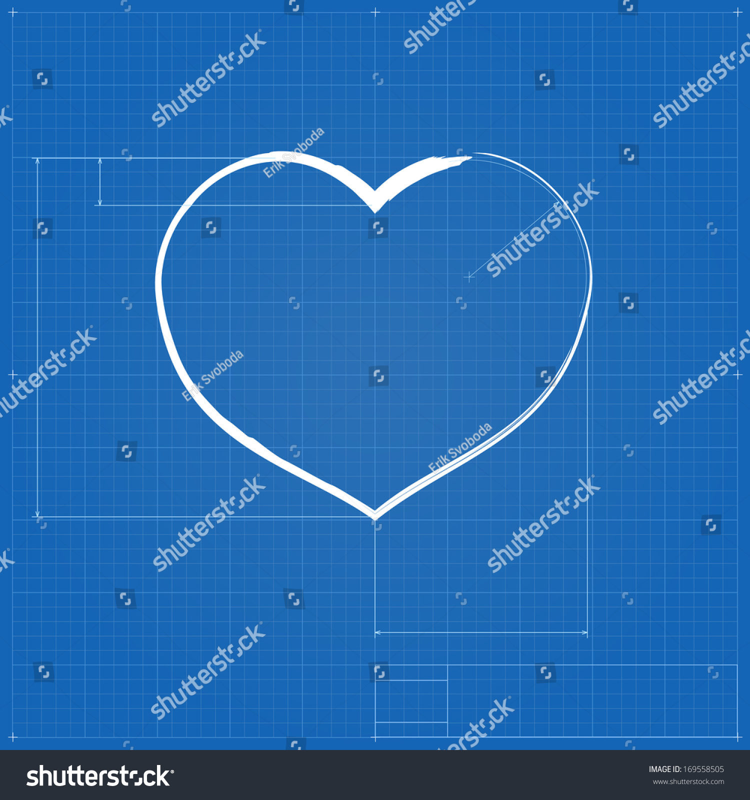 Heart symbol like blueprint drawing stylized stock illustration heart symbol like blueprint drawing stylized drafting of gift sign on blueprint paper illustration malvernweather Image collections