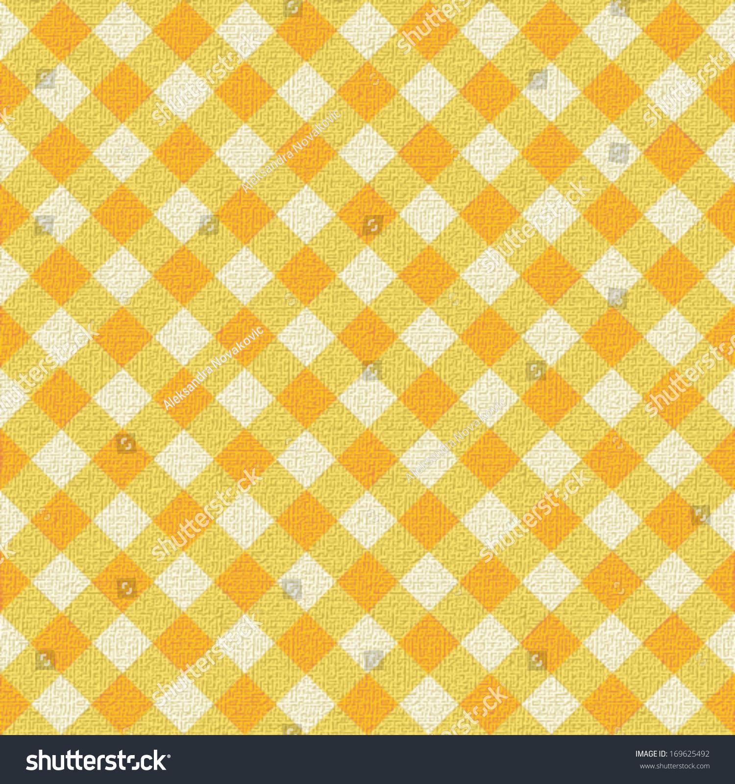 Wonderful Yellow Plaid Tablecloth