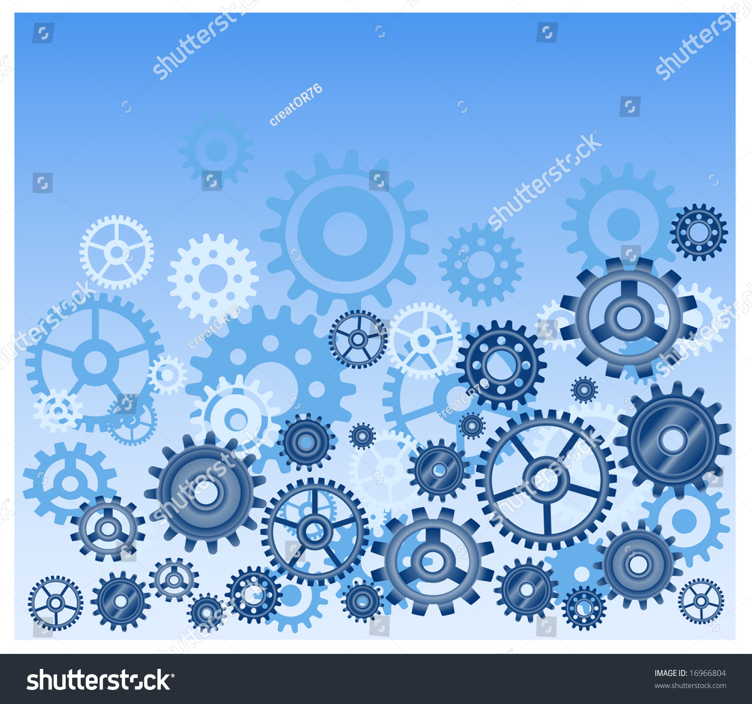Vector Gears Background In Blue  Technical  Mechanical