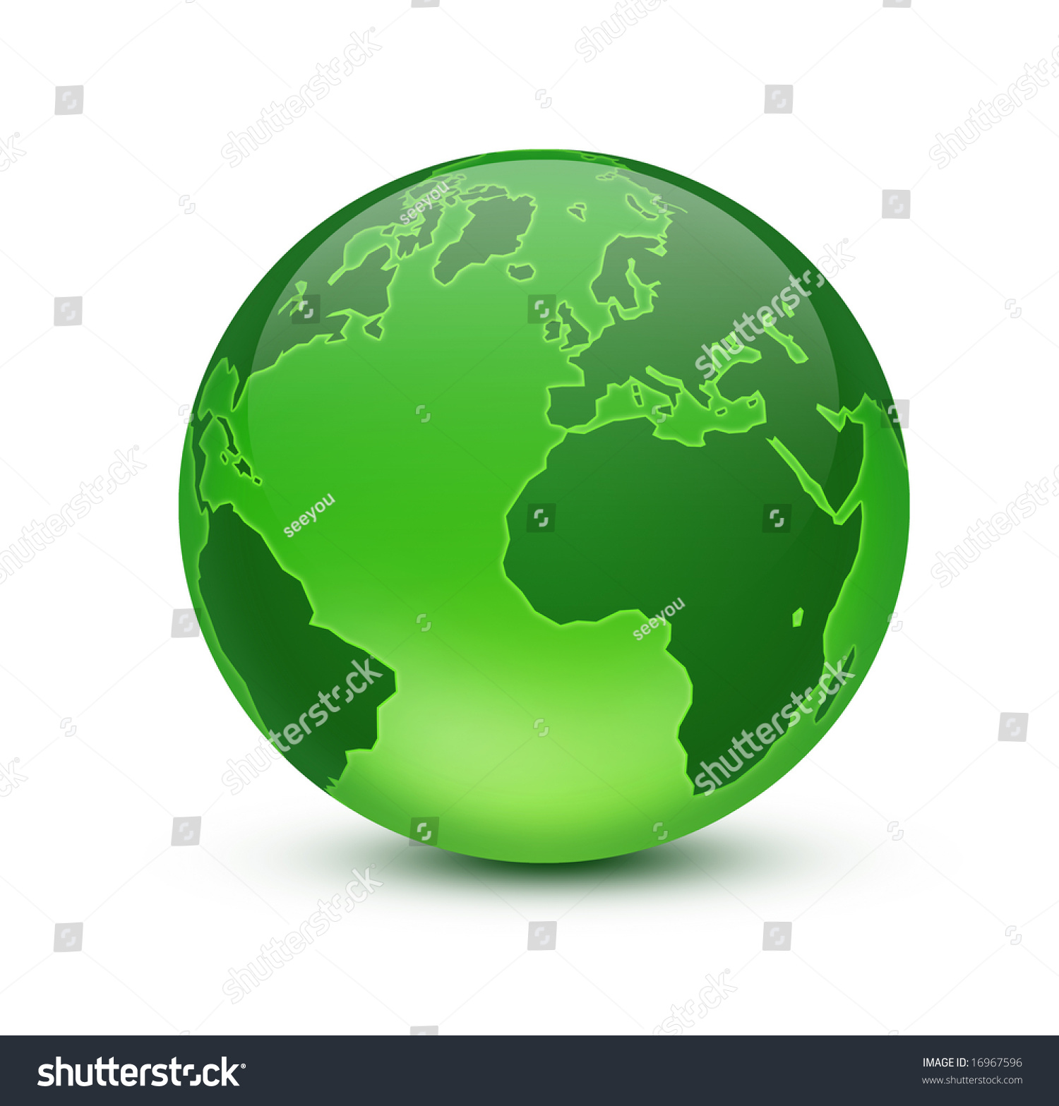 Green Earth Stock Photo 16967596 : Shutterstock