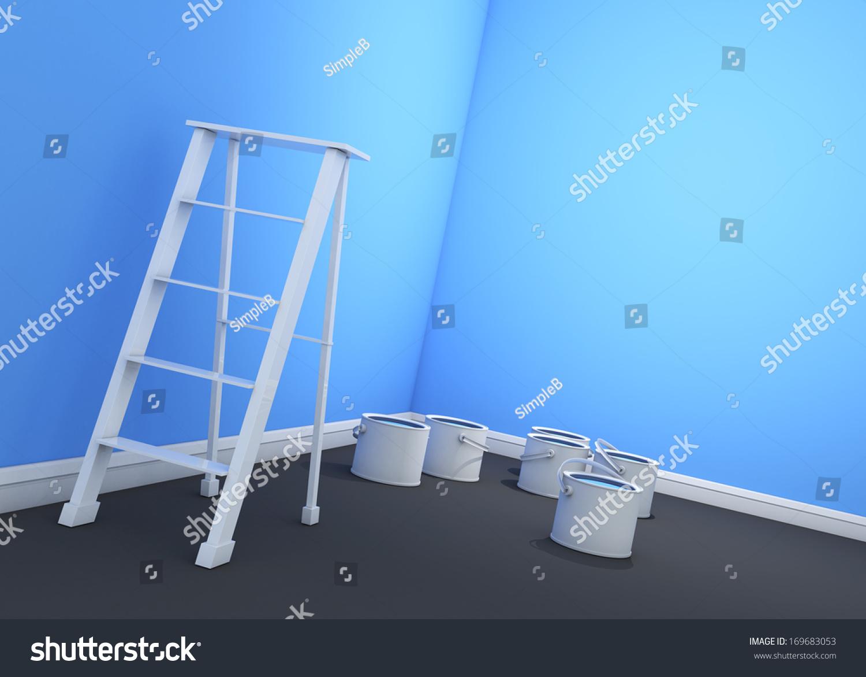 Light Blue Paint Wood Plank With Shriveled Light Blue