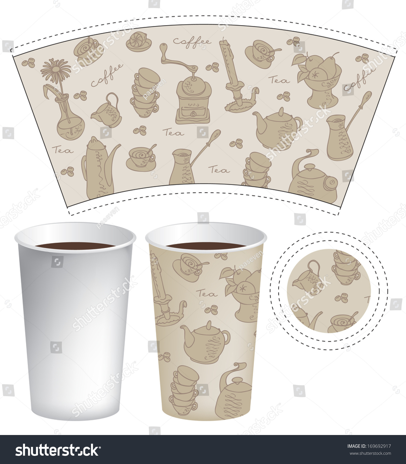 Paper Coffee Mug Template paper cup stock photos, images, & pictures ...
