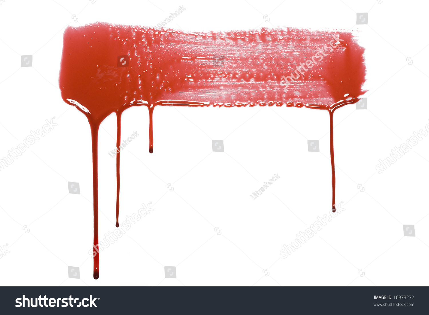 blood drip pattern isolated on a white background stock