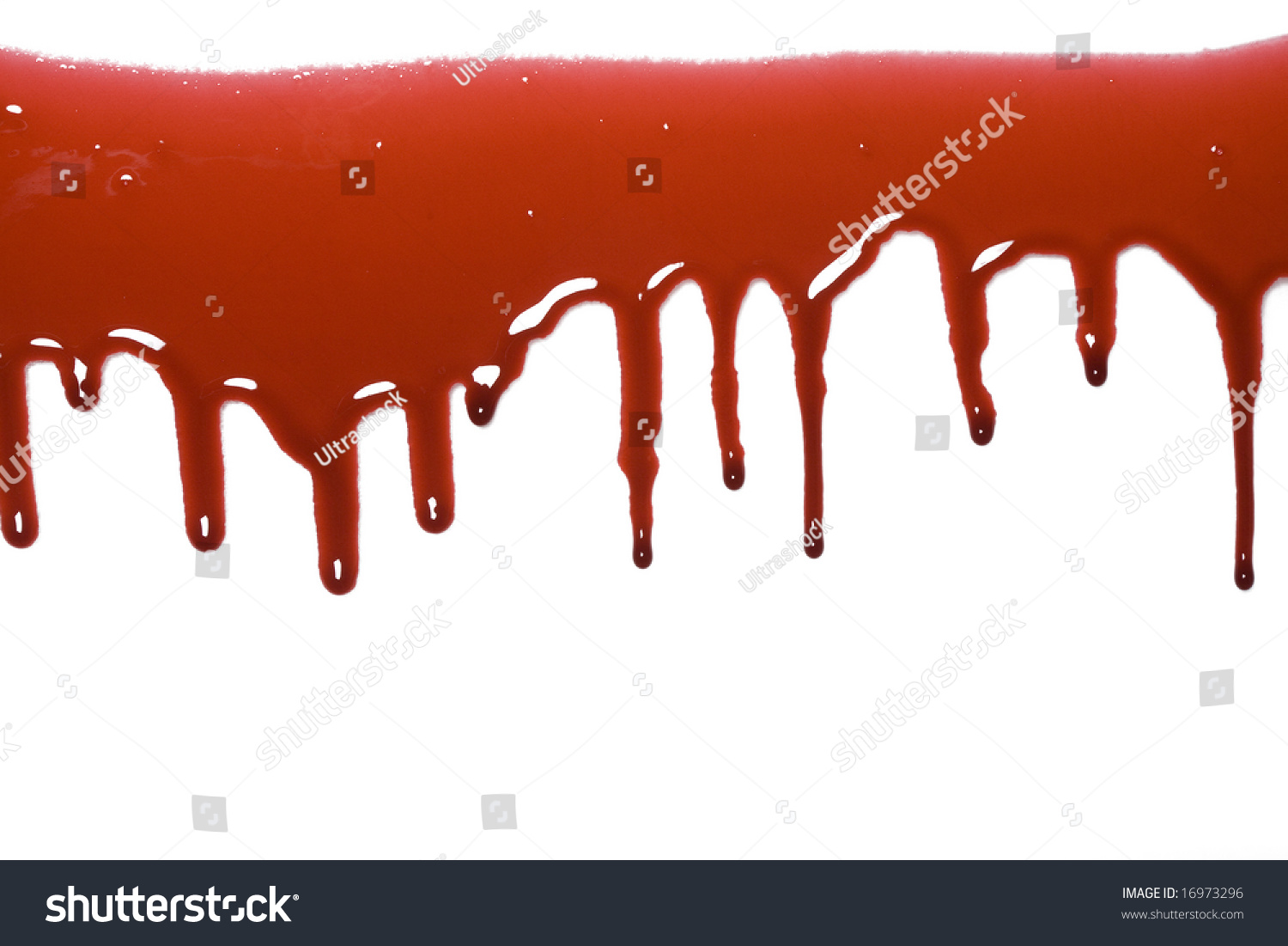 blood drip pattern isolated on white stock photo 16973296